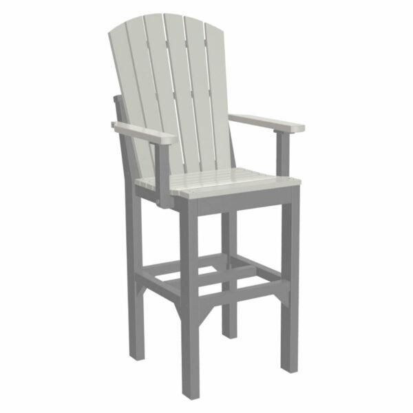 Adirondack Captain Bar Chair - Dove Grey & Slate