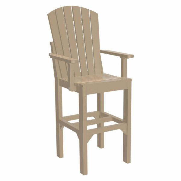 Adirondack Captain Bar Chair - Weatherwood