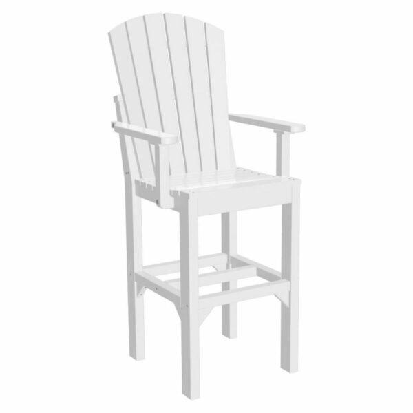 Adirondack Captain Bar Chair - White