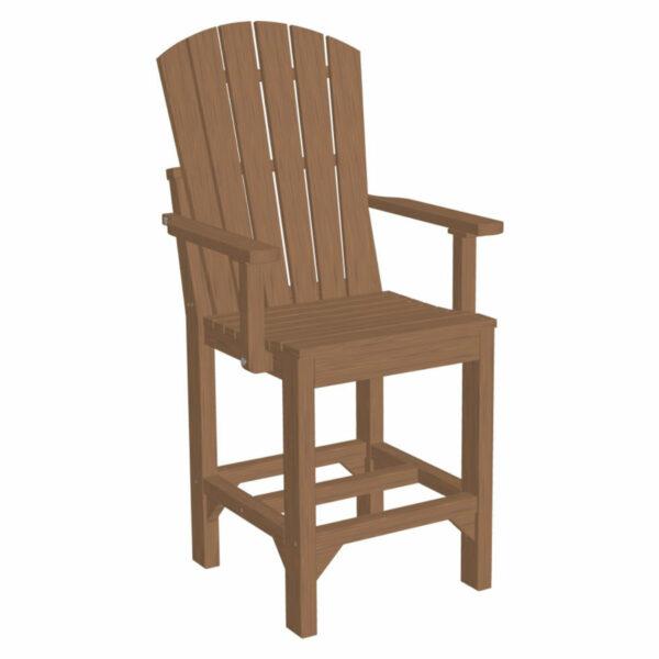 Adirondack Captain Counter Chair - Antique Mahogany