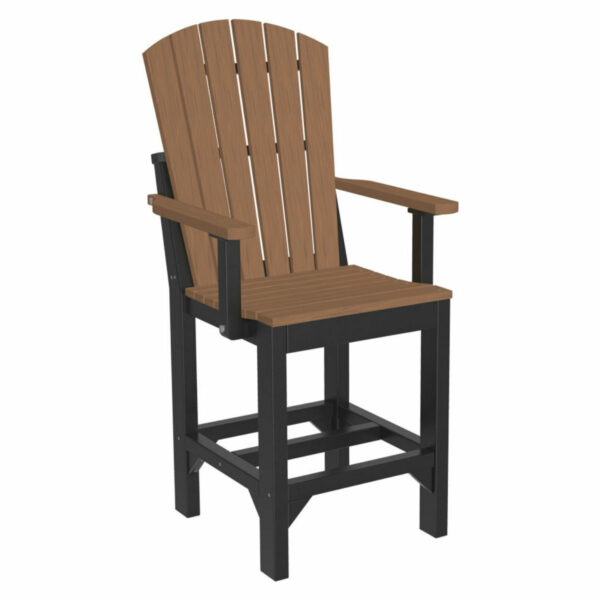 Adirondack Captain Counter Chair - Antique Mahogany & Black