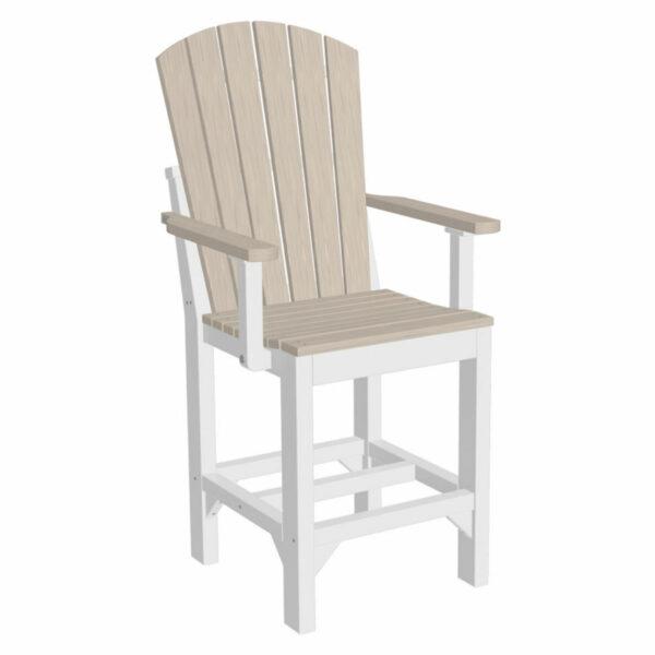 Adirondack Captain Counter Chair - Birch & White