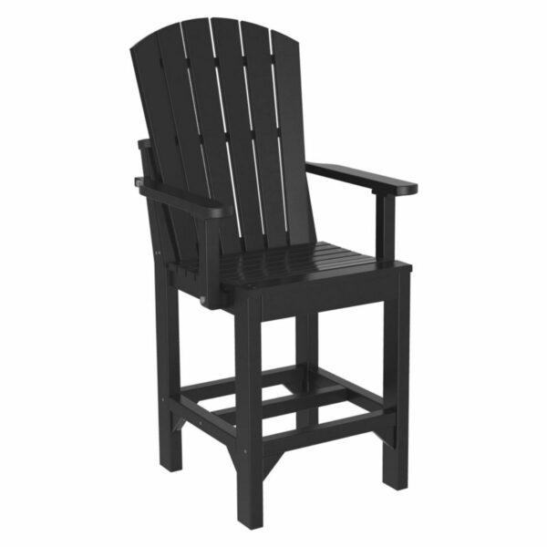Adirondack Captain Counter Chair - Black