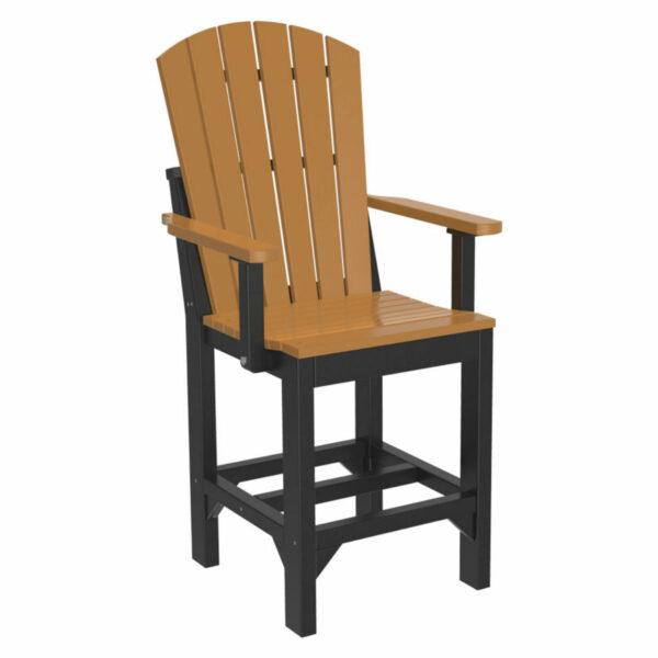 Adirondack Captain Counter Chair - Cedar & Black