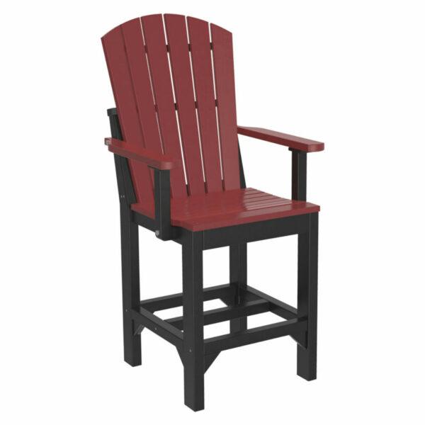 Adirondack Captain Counter Chair - Cherry & Black