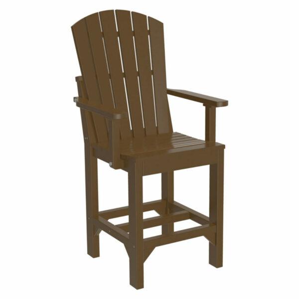 Adirondack Captain Counter Chair - Chestnut Brown