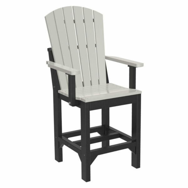 Adirondack Captain Counter Chair - Dove Grey & Black