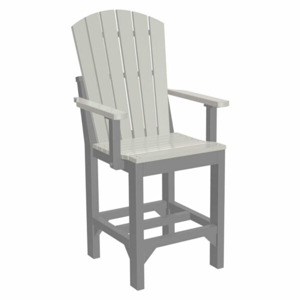 Adirondack Captain Counter Chair - Dove Grey & Slate