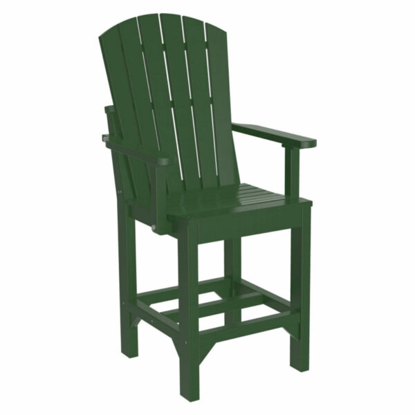 Adirondack Captain Counter Chair - Green