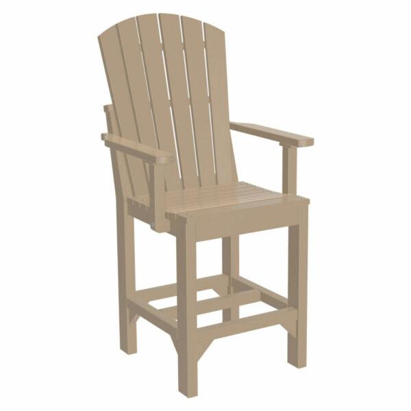 Adirondack Captain Counter Chair - Weatherwood