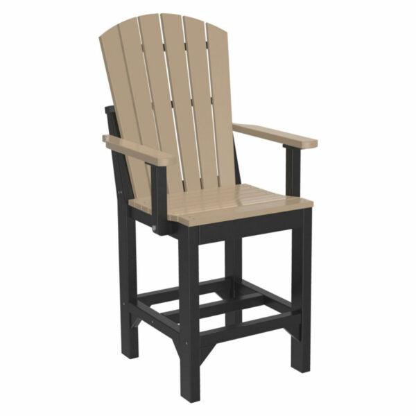 Adirondack Captain Counter Chair - Weatherwood & Black