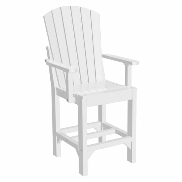 Adirondack Captain Counter Chair - White