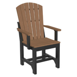 Adirondack Captain Dining Chair - Antique Mahogany & Black