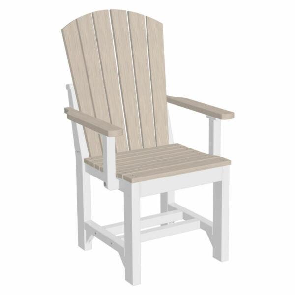 Adirondack Captain Dining Chair - Birch & White