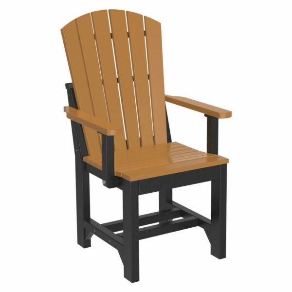 Adirondack Captain Dining Chair - Cedar & Black