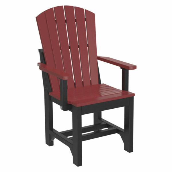 Adirondack Captain Dining Chair - Cherry & Black