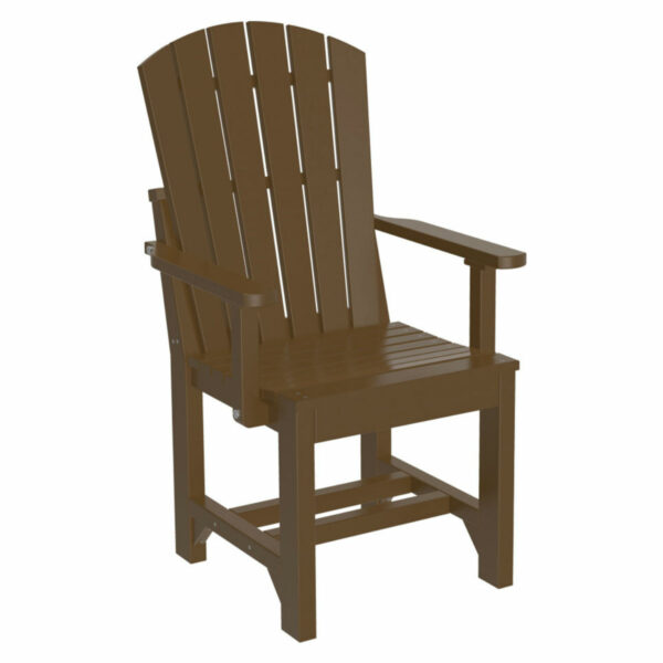 Adirondack Captain Dining Chair - Chestnut Brown