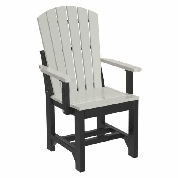 Adirondack Captain Dining Chair - Dove Grey & Black