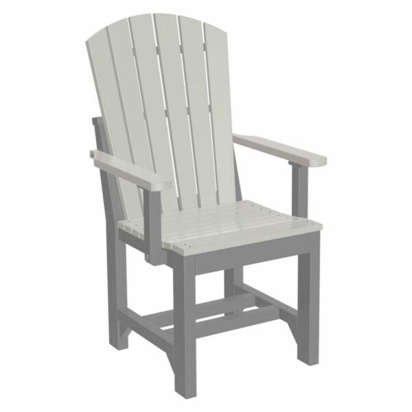 Adirondack Captain Dining Chair - Dove Grey & Slate