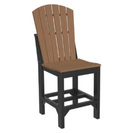 Adirondack Counter Chair - Antique Mahogany & Black