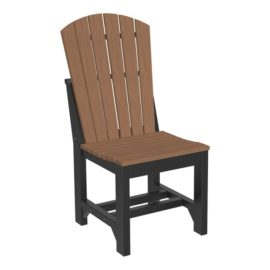 Adirondack Dining Chair - Antique Mahogany & Black