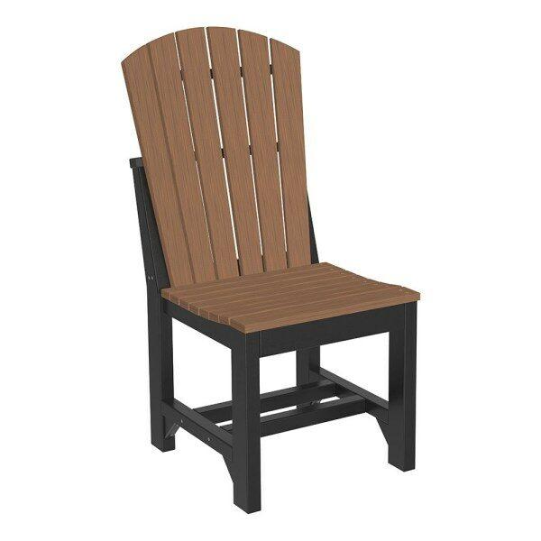Adirondack Dining Chair - Antique Mahogany & Black