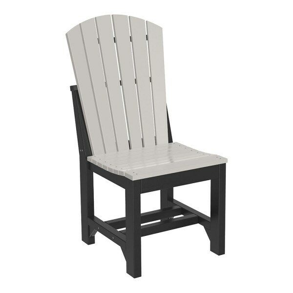 Adirondack Dining Chair - Dove Grey & Black