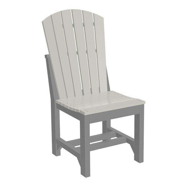 Adirondack Dining Chair - Dove Grey & Slate