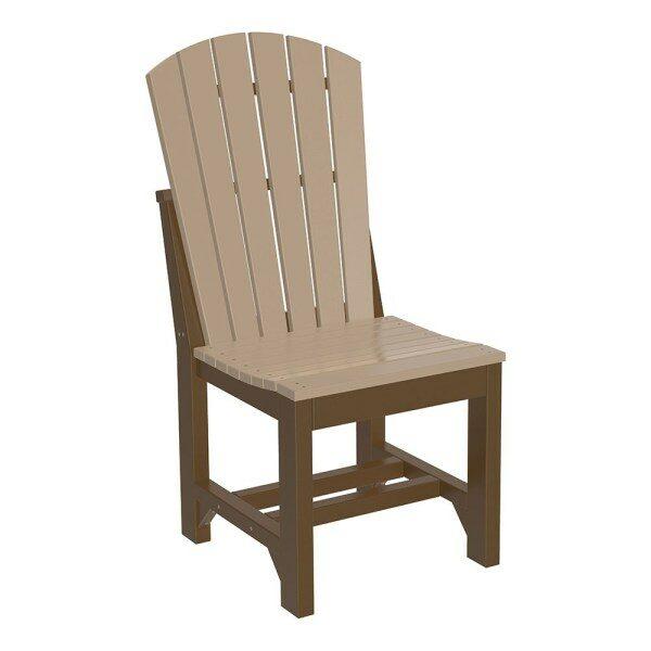 Adirondack Dining Chair - Weatherwood & Chesnut Brown