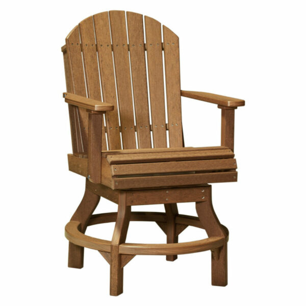 Adirondack Swivel Counter Chair - Antique Mahogany