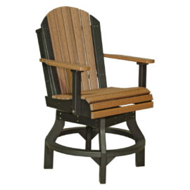 Adirondack Swivel Counter Chair - Antique Mahogany & Black