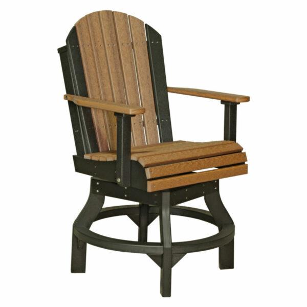 Adirondack Swivel Counter Chair - Antique Mahogany & Black