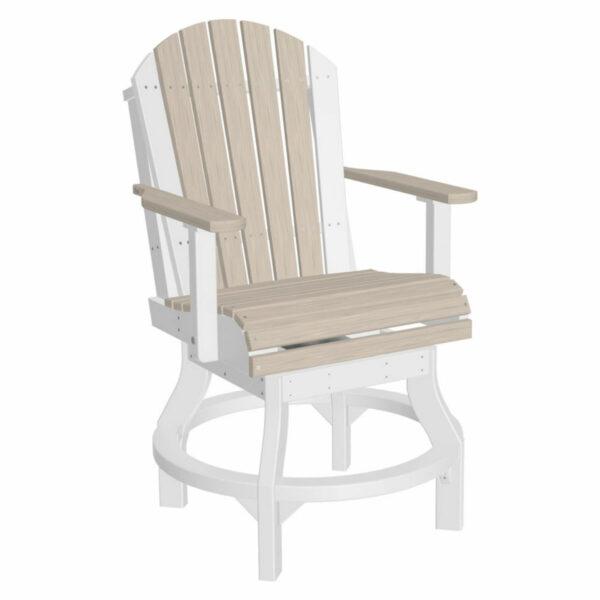 Adirondack Swivel Counter Chair - Birch & White