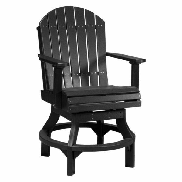 Adirondack Swivel Counter Chair - Black