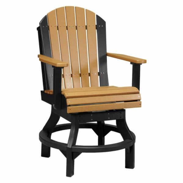 Adirondack Swivel Counter Chair - Cedar & Black