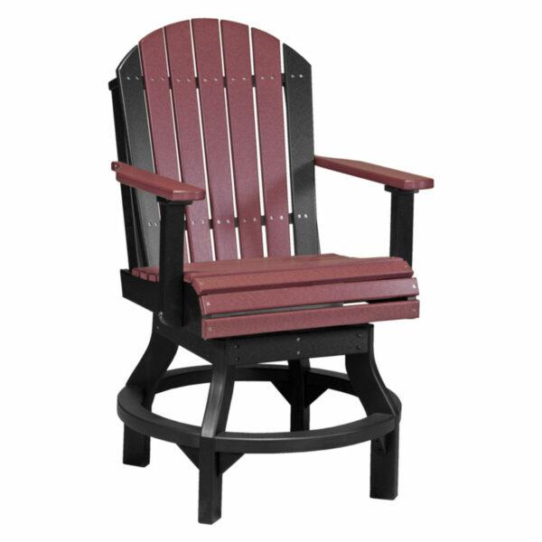 Adirondack Swivel Counter Chair - Cherry & Black