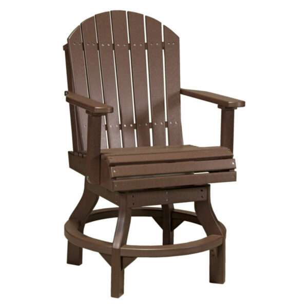 Adirondack Swivel Counter Chair - Chestnut Brown