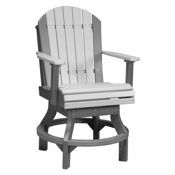 Adirondack Swivel Counter Chair - Dove Grey & Slate