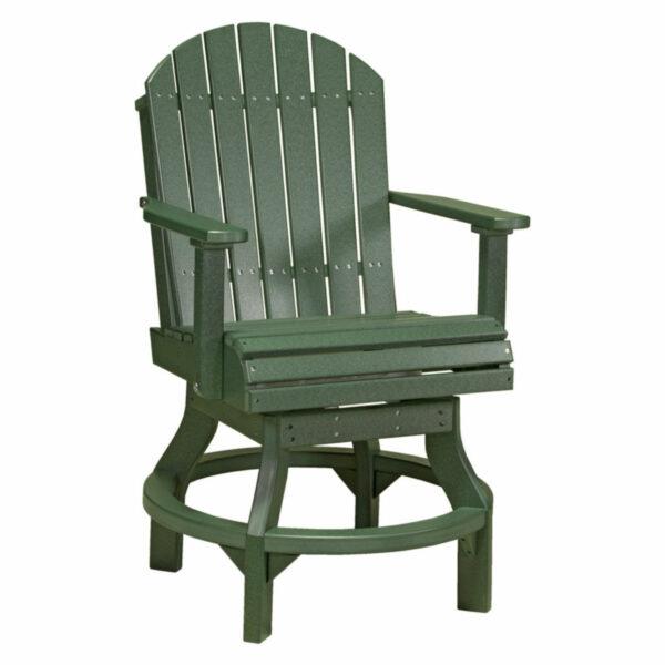 Adirondack Swivel Counter Chair - Green