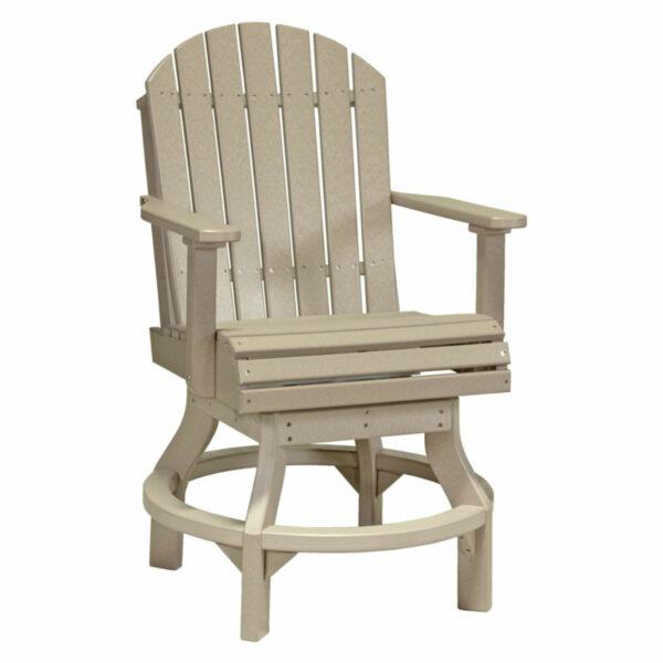 Adirondack Swivel Counter Chair - Weatherwood
