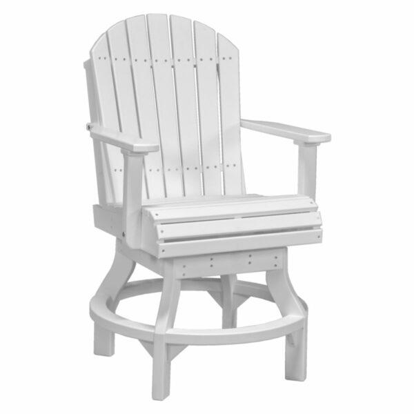 Adirondack Swivel Counter Chair - White