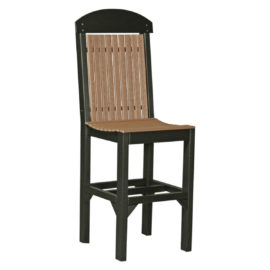 Classic Bar Chair - Antique Mahogany & Black