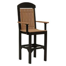 Classic Captain Bar Chair - Antique Mahogany & Black
