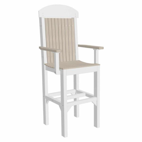 Classic Captain Bar Chair - Birch & White