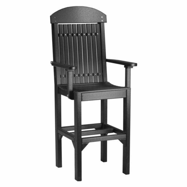Classic Captain Bar Chair - Black