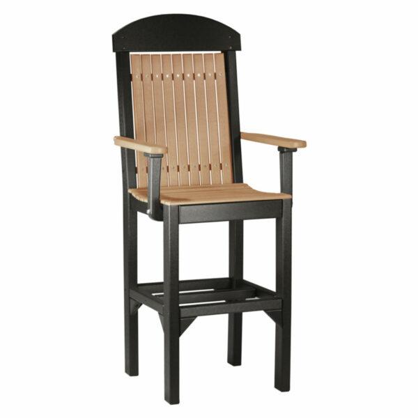 Classic Captain Bar Chair - Cedar & Black