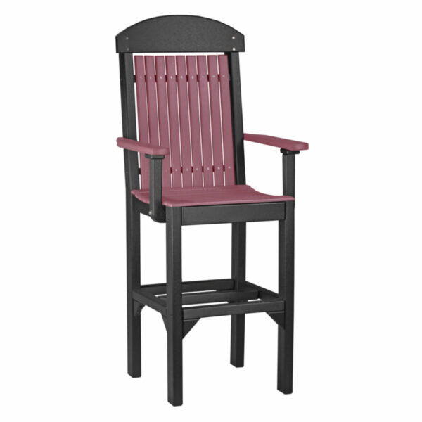 Classic Captain Bar Chair - Cherry & Black
