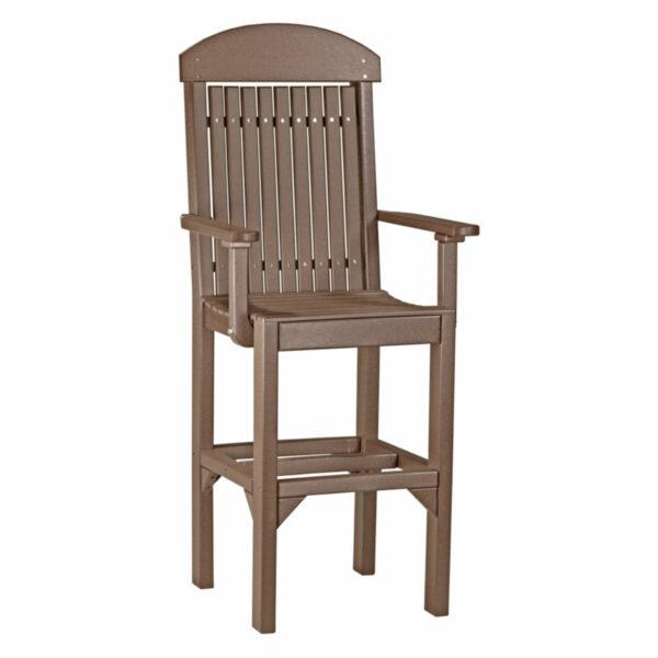 Classic Captain Bar Chair - Chestnut Brown