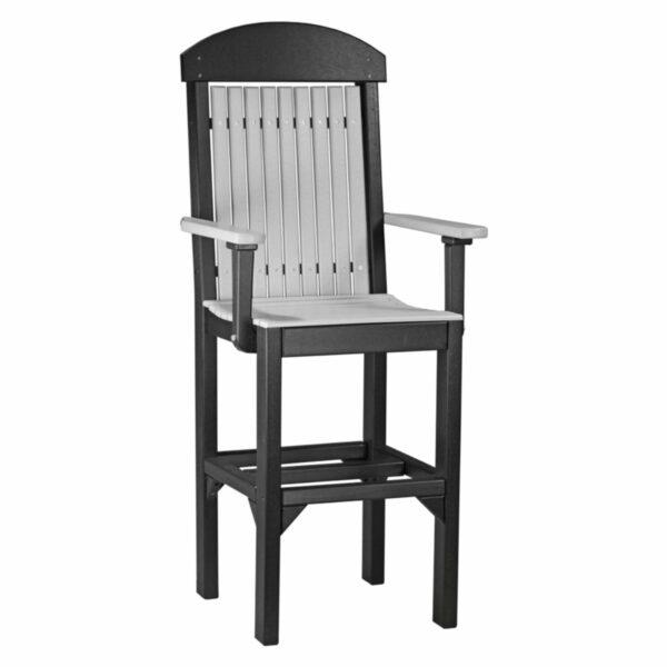 Classic Captain Bar Chair - Dove Grey & Black