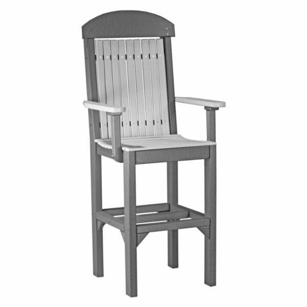 Classic Captain Bar Chair - Dove Grey & Slate